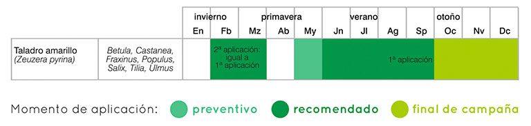 calendario tratamientos taladro