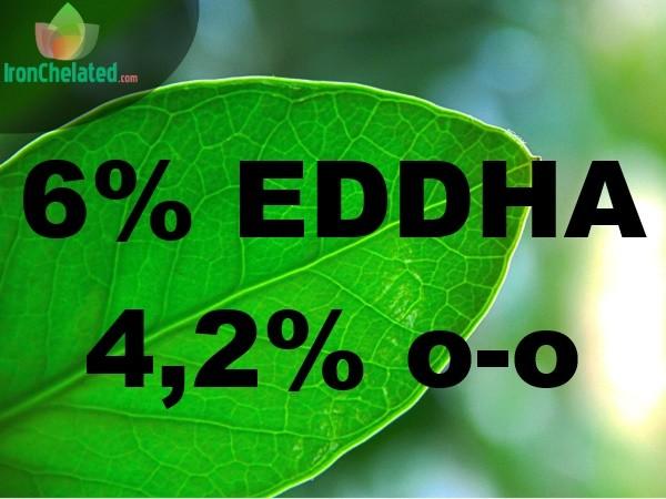 Quelato de hierro 6% EDDHA 4,2% o-0
